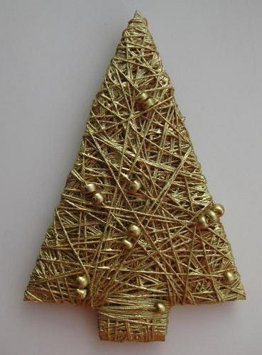 елка к Рождеству своими руками из ниток