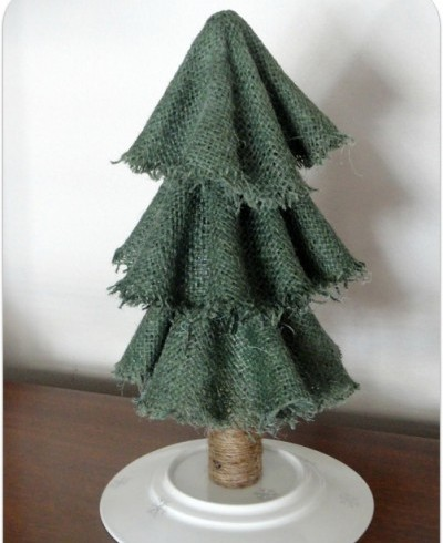 елка из ткани к новому году