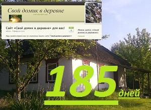 """Сайт """"Свой домик в деревне"""" 185 дней"""