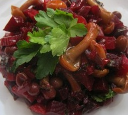 винегрет особенный-рецепты постных блюд