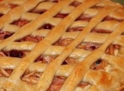Открытый пирог с сухофруктами-вкусные постные рецепты
