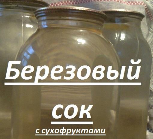 Березовый сок — рецепт с сухофруктами