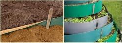Как установить бордюрную ленту в саду?