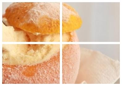 десерт мороженое с апельсинами