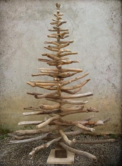 оригинальная елка из веток делаем сами