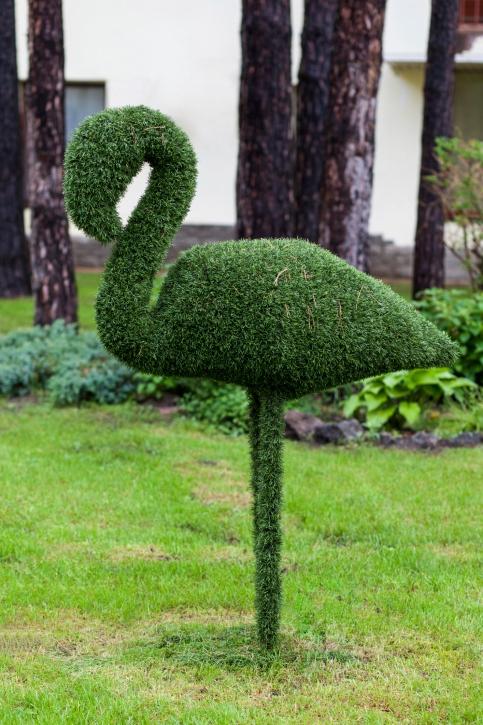 Зеленые скульптуры - обрезка фото