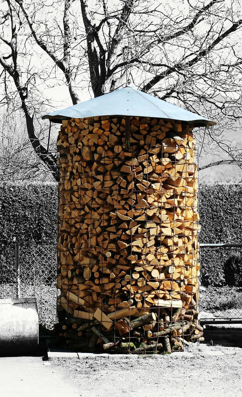 как сложить дрова красиво 11