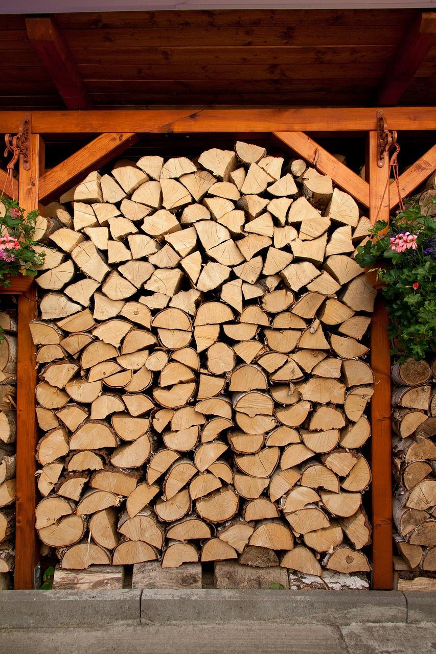 как сложить дрова красиво 13