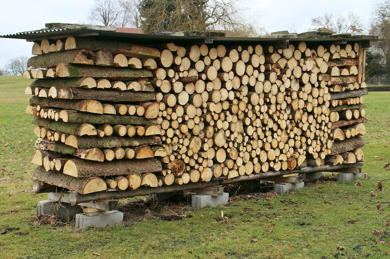 как сложить дрова красиво 6