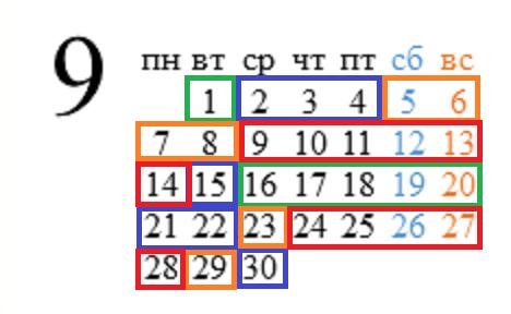 календарь рыбака сентябрь 2015