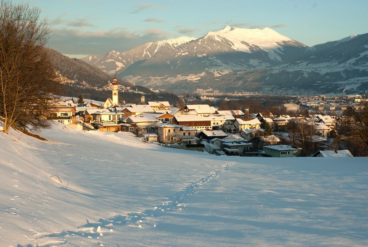 красивая деревня зимой фото 1