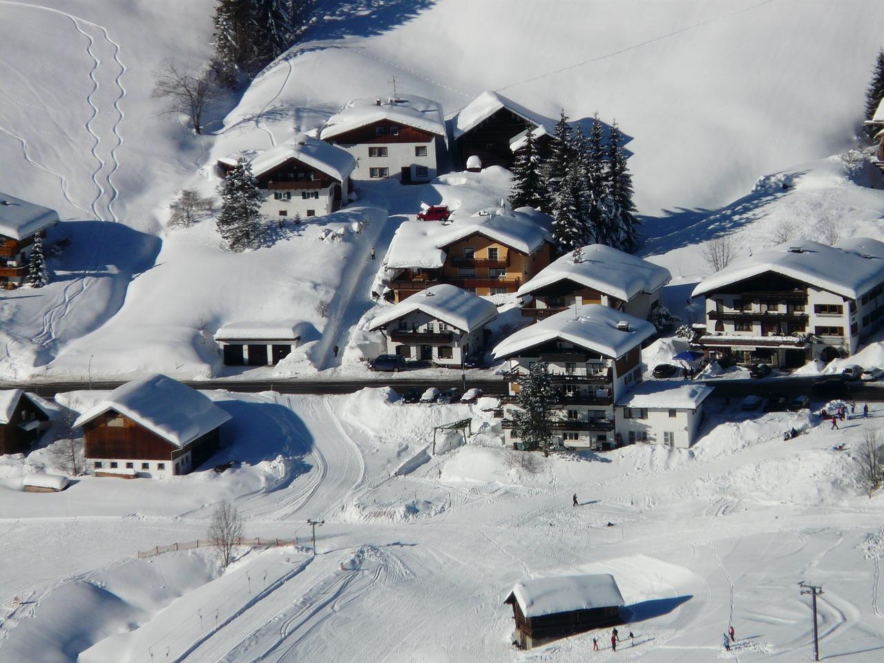 красивая деревня зимой фото 10