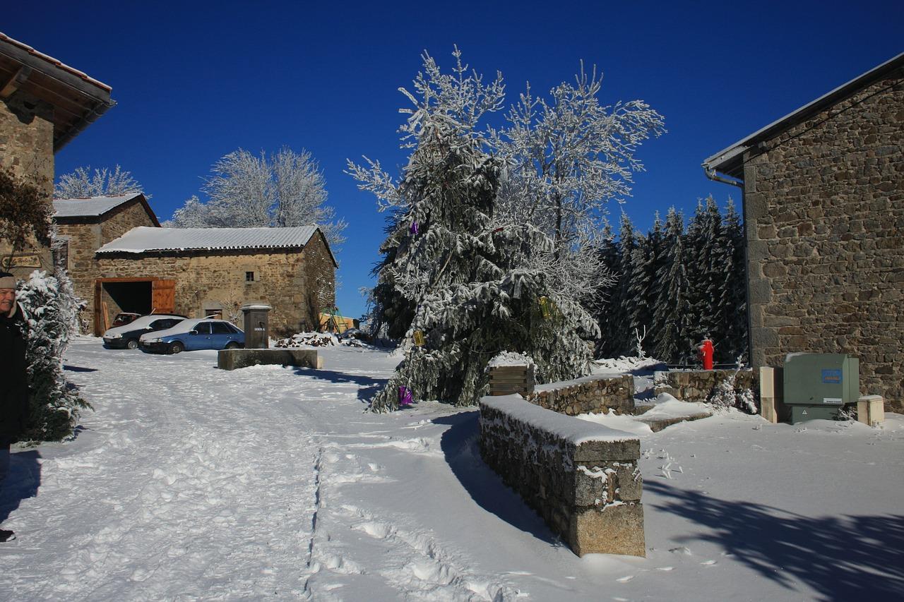 красивая деревня зимой фото 12