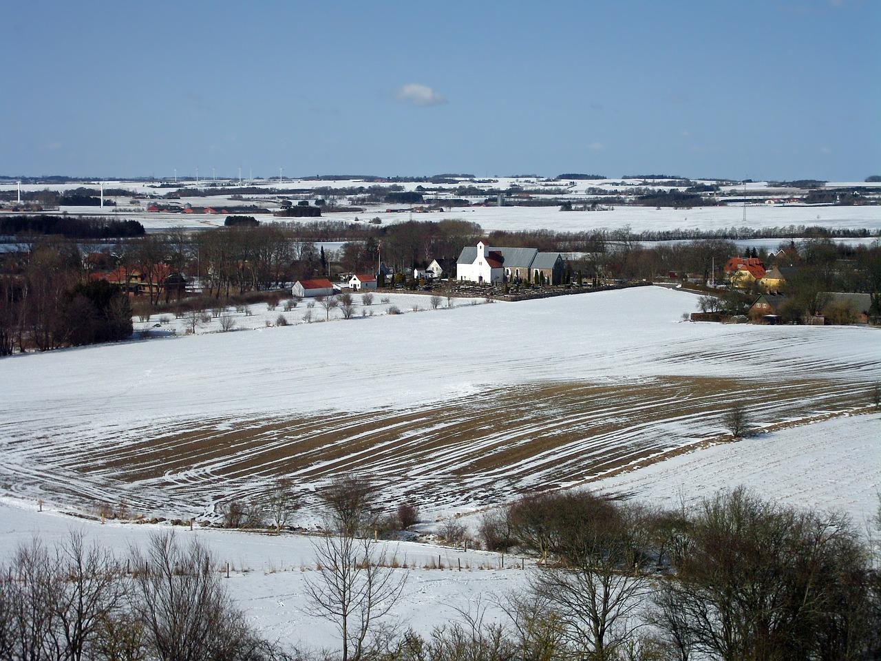 красивая деревня зимой фото 15