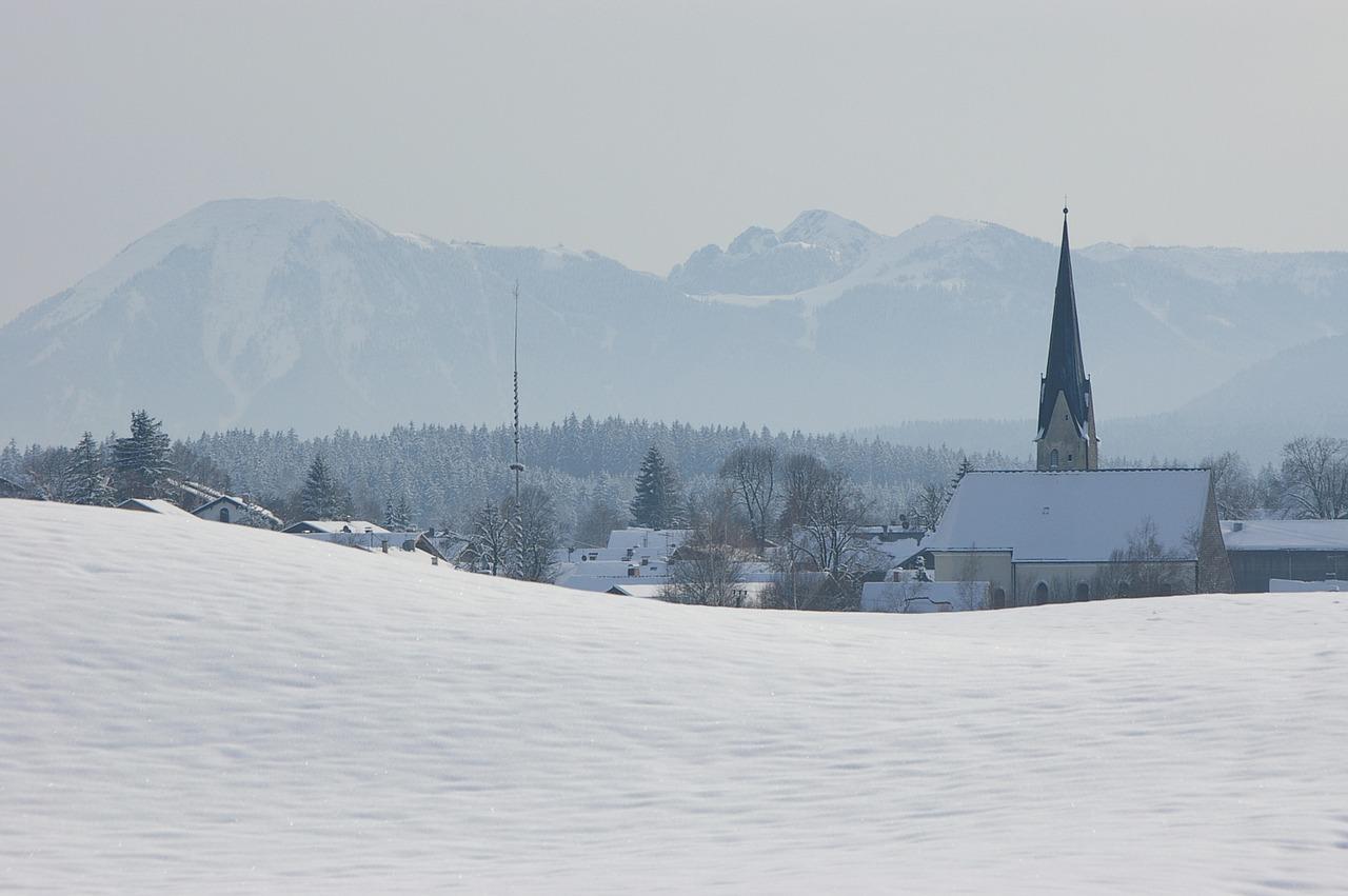 красивая деревня зимой фото 17