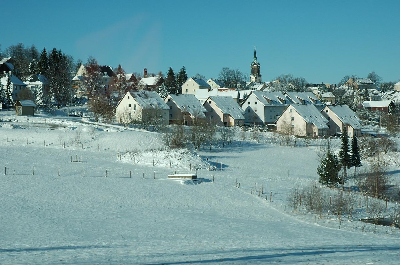 красивая деревня зимой фото 19