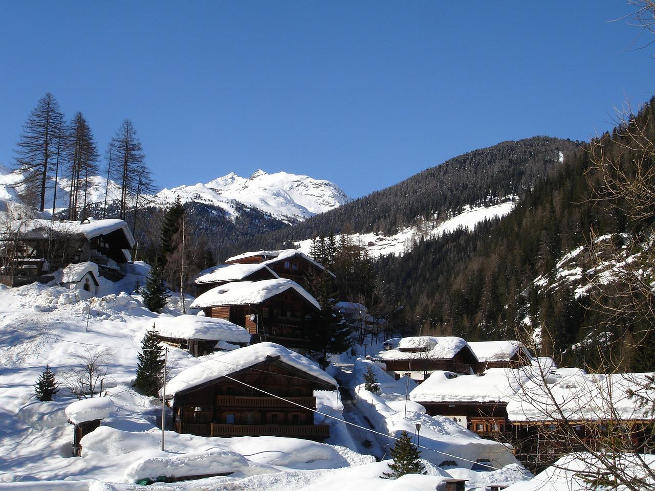 красивая деревня зимой фото 2