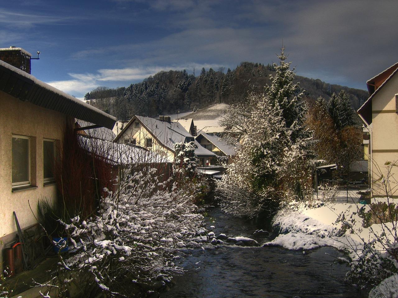 красивая деревня зимой фото 20