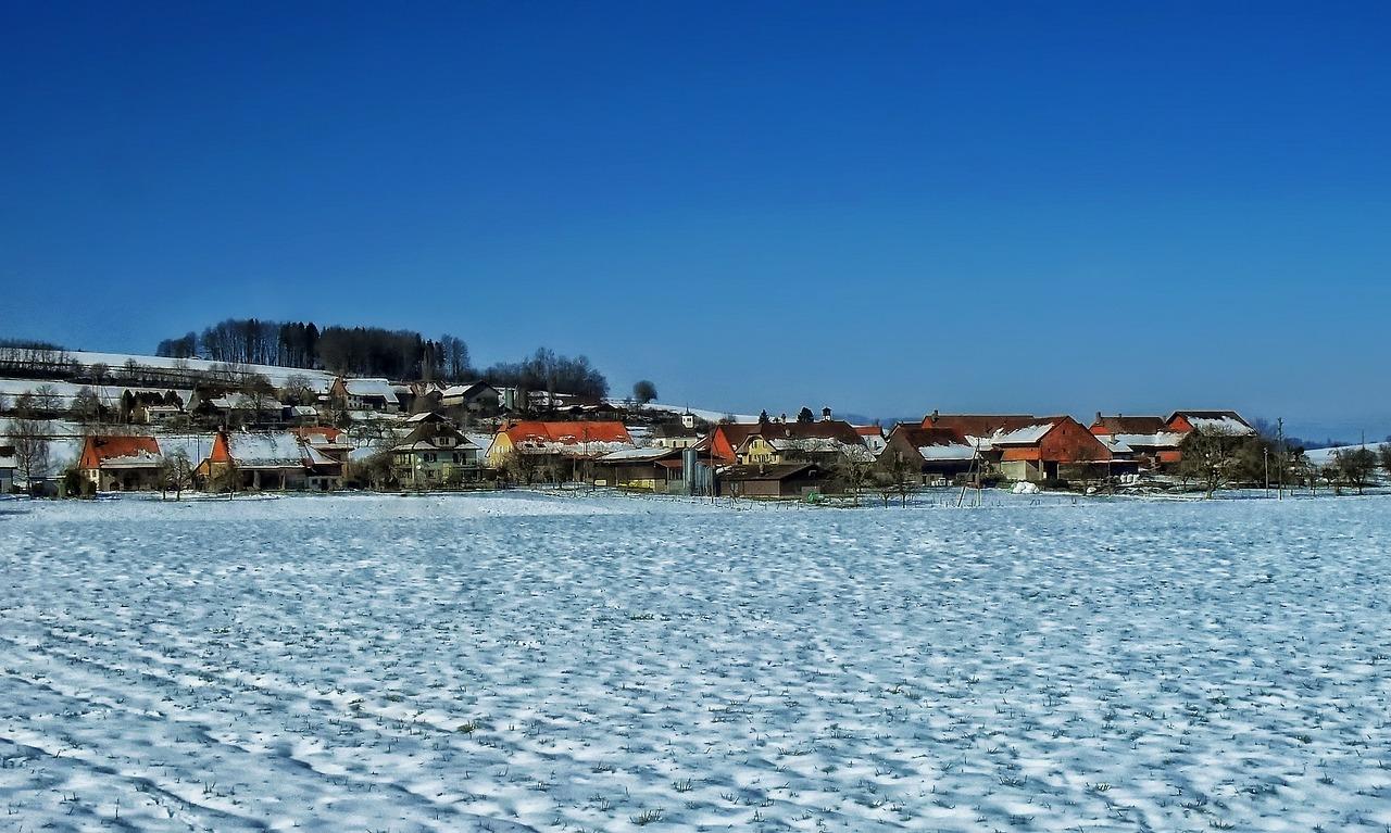 красивая деревня зимой фото 23