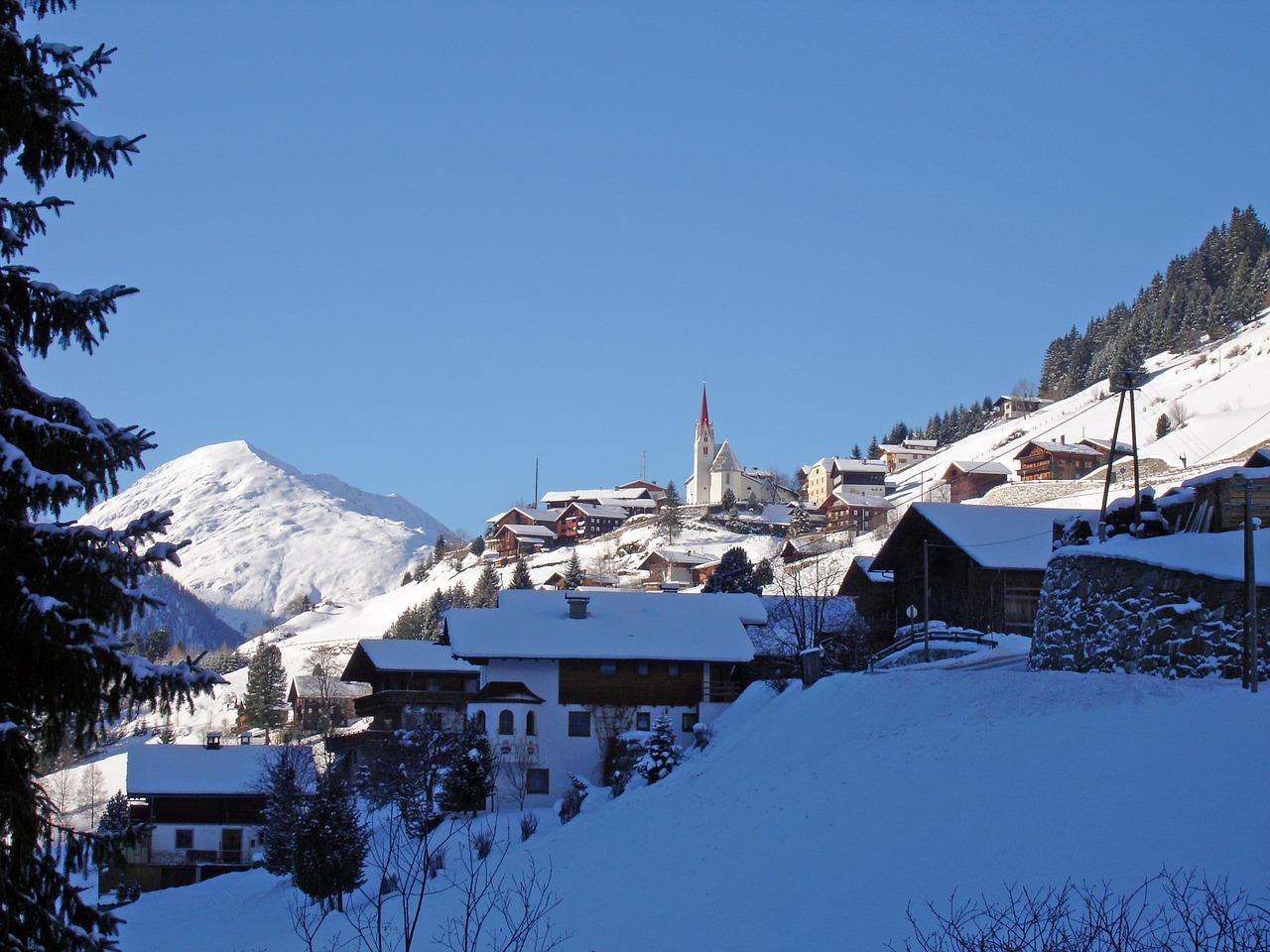 красивая деревня зимой фото 24