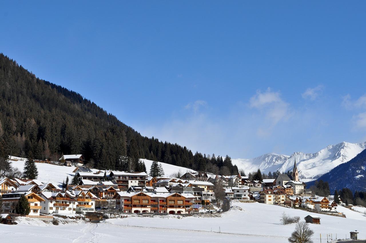 красивая деревня зимой фото 5