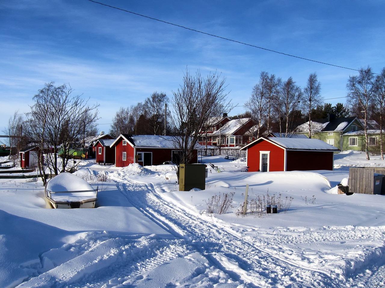 красивая деревня зимой фото 8
