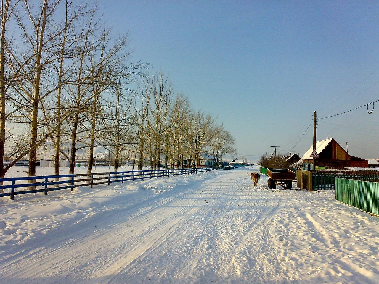 красивая деревня зимой фото 9