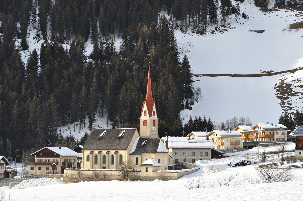 красивая деревня  зимой фото