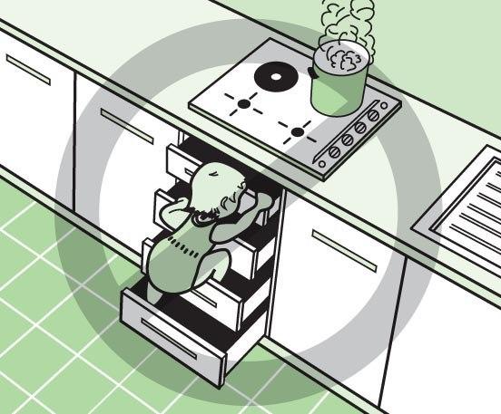планировка кухни 7