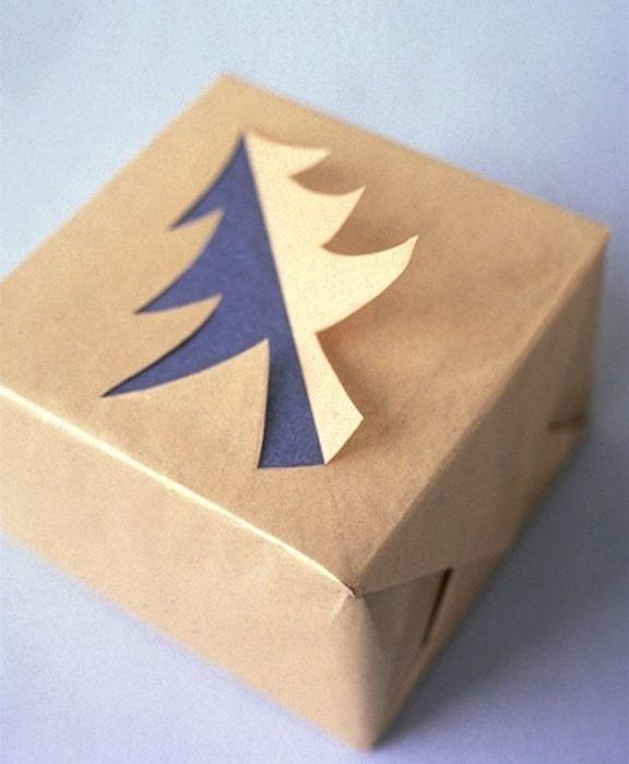 Как упаковать подарок на Новый год своими руками 9