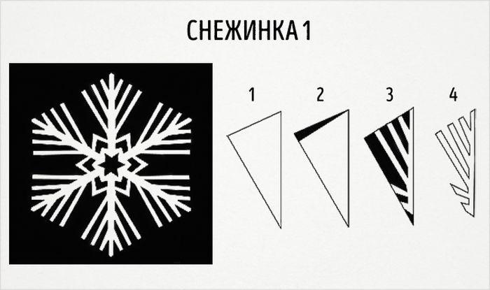 как сделать круглую снежинку схема 1