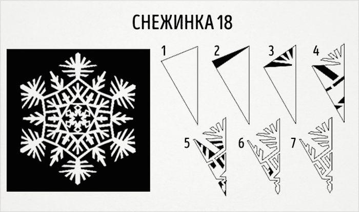как сделать круглую снежинку схема 18
