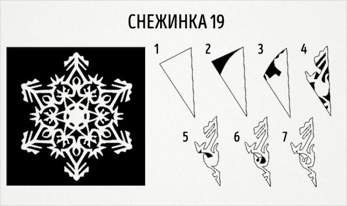 как сделать круглую снежинку схема 19