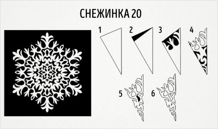 как сделать круглую снежинку схема 20