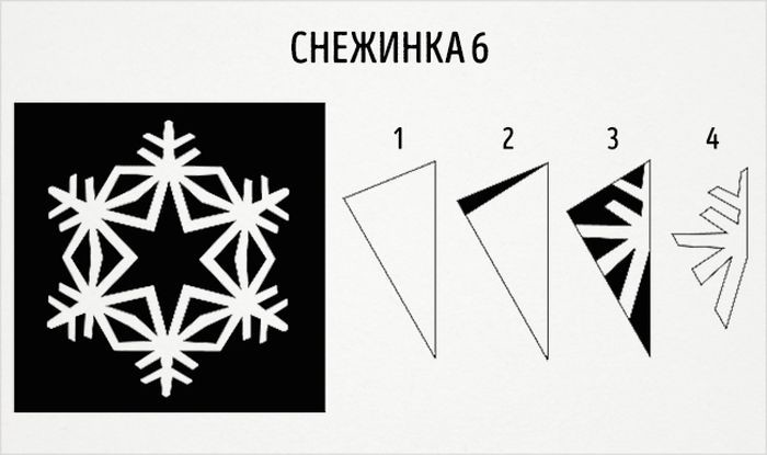 как сделать круглую снежинку схема 6