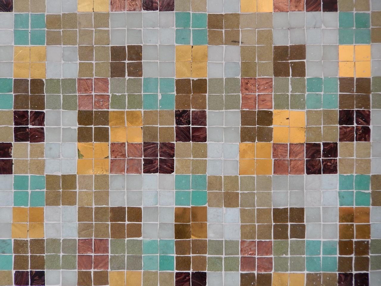 Цвет Limpet shell в интерьере , мозаика
