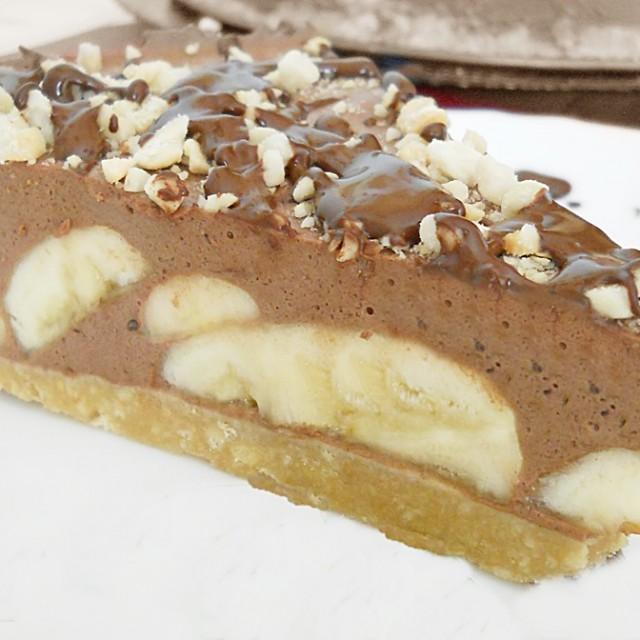 шоколадно банановый торт без выпечки 3