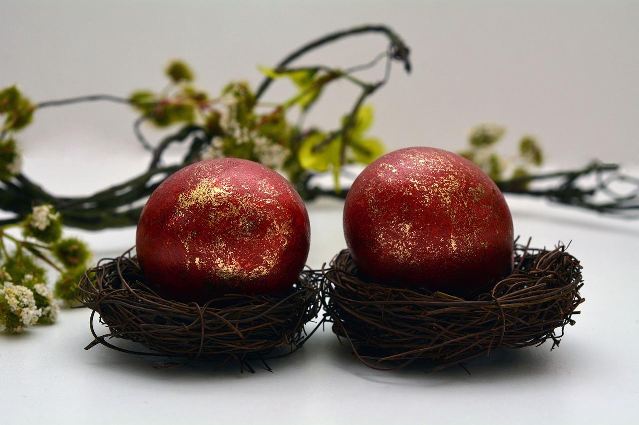 яйца на пасху, пасхальные украшения фото 1
