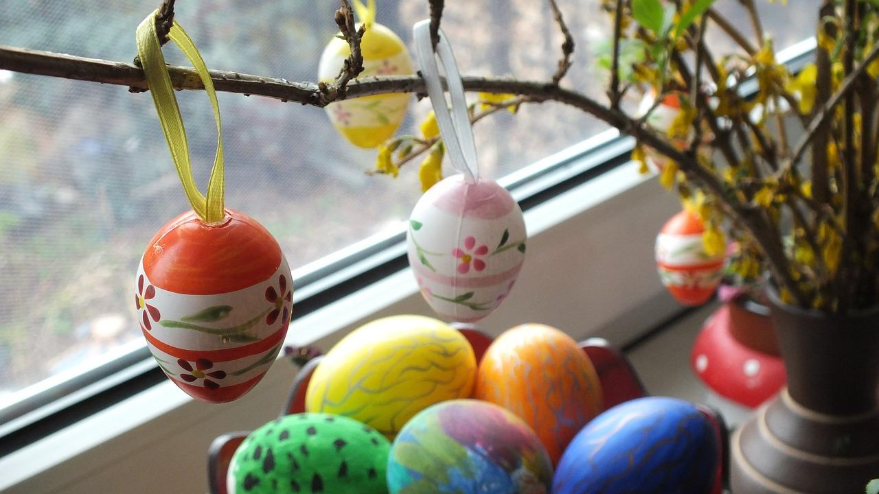 яйца на пасху, пасхальные украшения фото 24