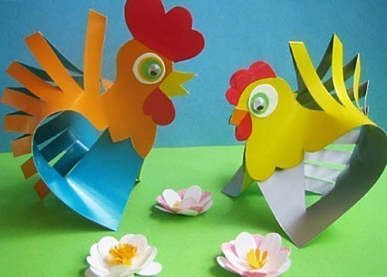 Как сделать петушка из бумаги для ребенка