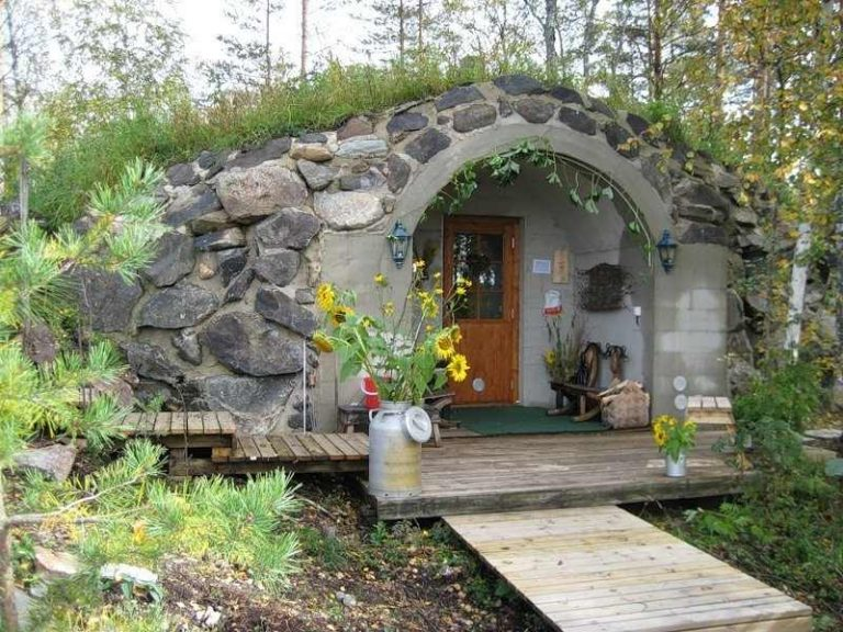 Дом из камней своими руками 77