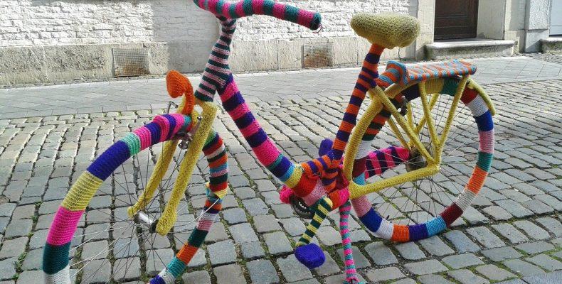 Старый велосипед в ландшафтном дизайне — 10 ярких примеров
