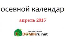 Апрель: лунный календарь огородника 2015