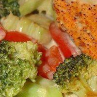 Филе рыбы с овощами в духовке