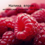 Простые рецепты из малины на зиму