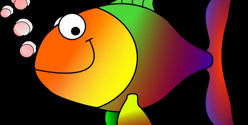 Трафарет рыбы — 45 прозрачных картинок-шаблонов