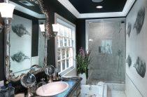 Потолок в ванной — ТОП-15 стильных решений